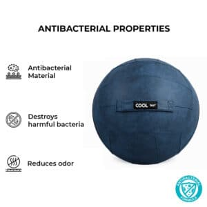 Antibacterial Blue Yoga Sitting Ball Chair