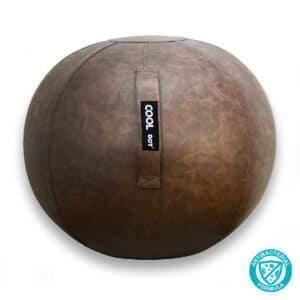 Premium Leatherette Antibacterial Brown Yoga Sitting Ball Chair